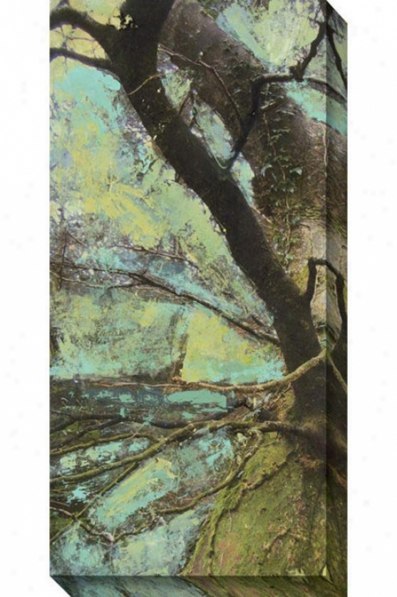 Auspicious I Canvas Wall Arr - I, Green