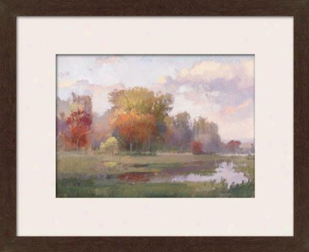 """autumn Cove Framed Wall Art - 25""""hx35""""w, Matted Espress""o"