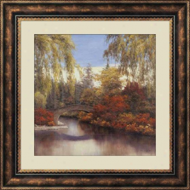 """autumn Crossing Framed Wall Art - 36""""hx36""""w, Brown"""