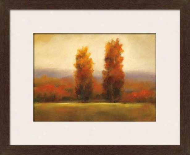 Autumn Dusk I Framed Wall Art - I, Matted Espresso