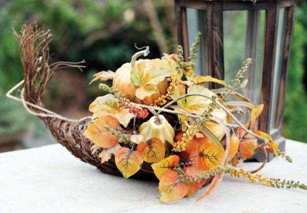 Autumn Gathering Cornucopia - Cornucopia, Orange