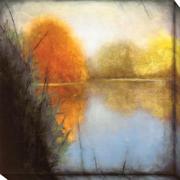 Autumn Marsh I Canvas Wall Art - I, Blue