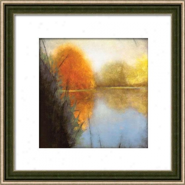 Autumn Marsh I Framed Wall Art - I, Matted Silver