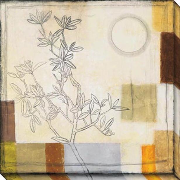 Autumn Moon I Ovwrsized Canvas Wall Art - I, White