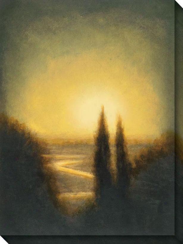 Autumn Oasis I Canvas Wall Art - I, Gold