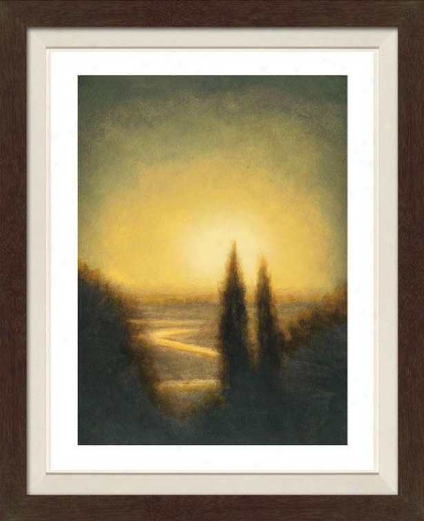 Autumn Oasis I Framed Wall Art - I, Matted Black