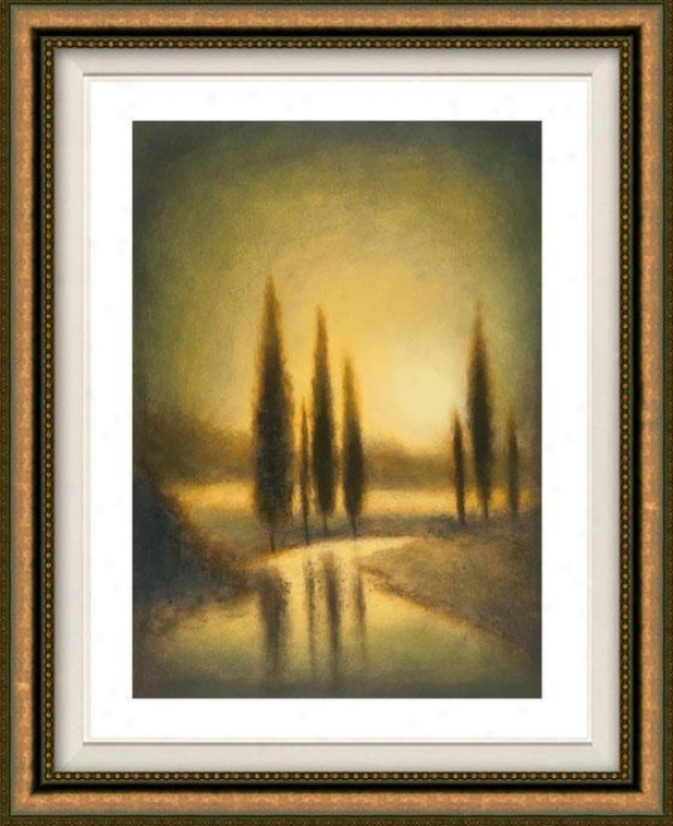 Autumn Oasis Ii Framed Wall Art - Ii, Floated Gold