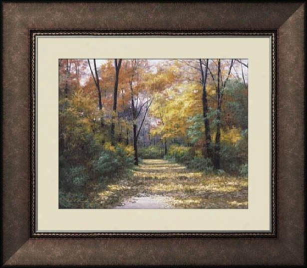 """autumn Road Framed Wall Art - 35""""hx41""""w, Trnd Brl Wd Frm"""