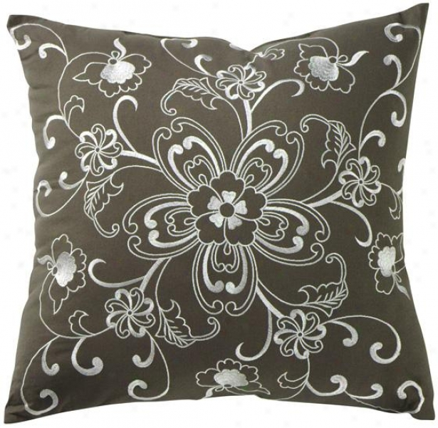 Ava Decorative Pillow - 20hx20wx7d, Gray