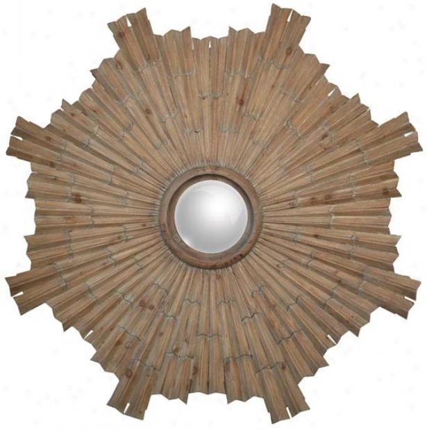 """aztec Pattern - 56"""" Diameter, Light/natural"""