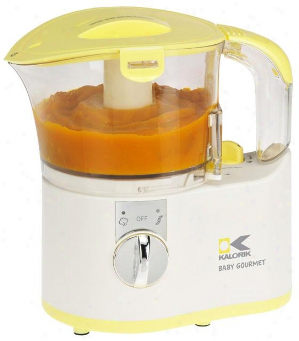 Baby Gourmet Aliment Maker - 8.5hx5.5wx7.5d, Yellow