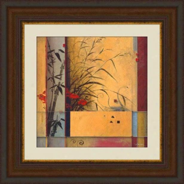 """bamboo Diviision Framed Wall Art - 39""""hx39""""w, Brown"""