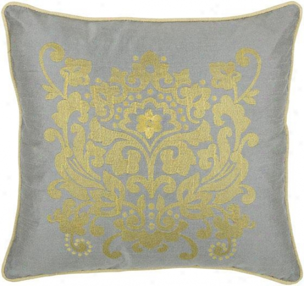 """baroque Decorative Pillow - 18"""" Regulate, Gray"""