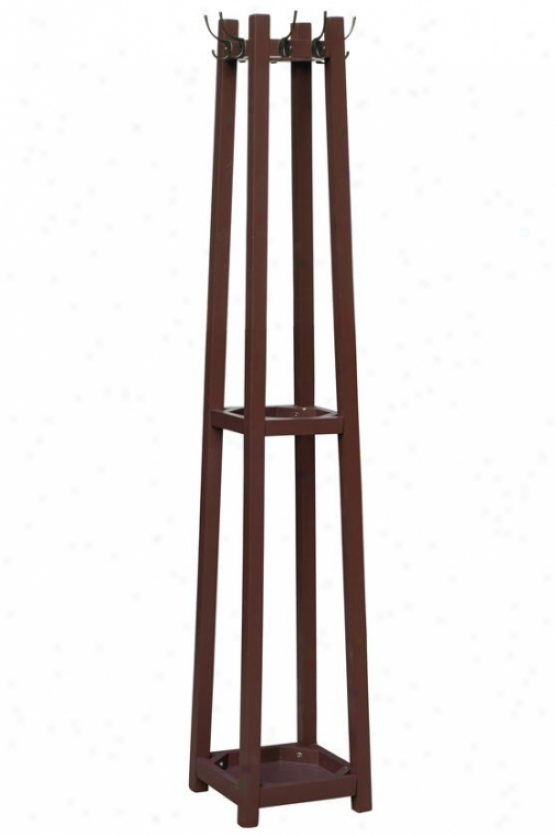 """barry Coat Rack - 12""""wx112""""dx71""""h, Brown"""
