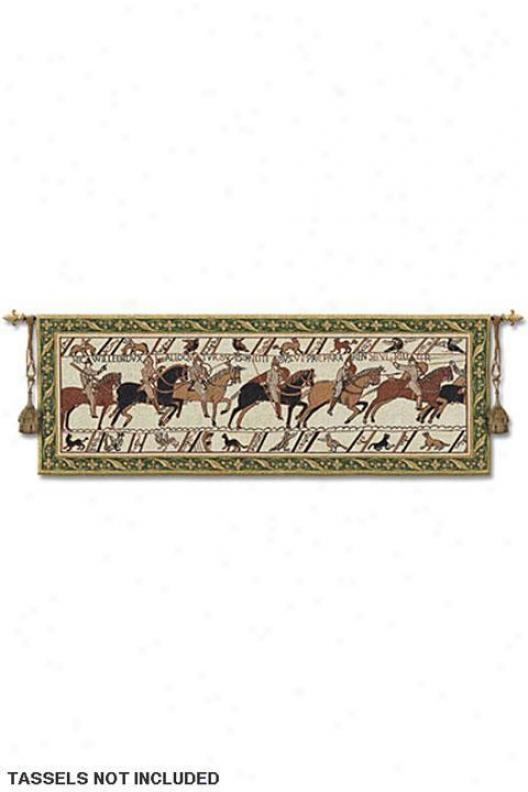 """bayeux Tapestry - 27""""hx76""""w, Multi"""