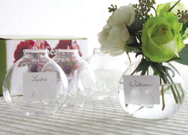 """be Seated Bud Vases - Set Of 4 - 3""""hx3.5""""d, Clear"""