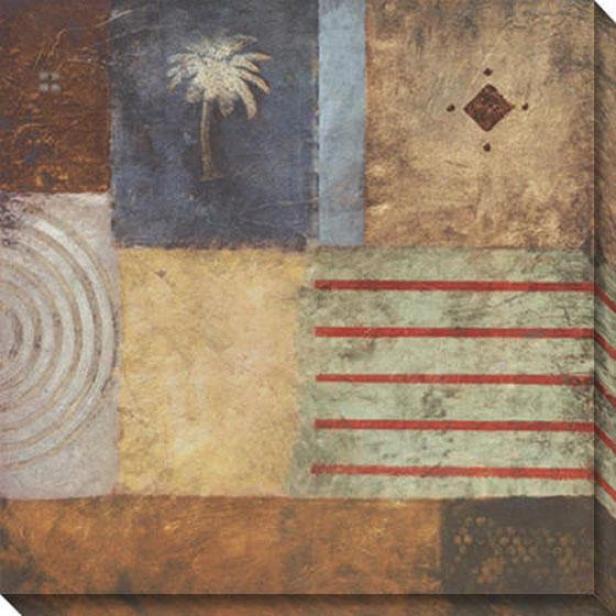 Beach Memoirs I Canvas Wall Practical knowledge - I, Beige