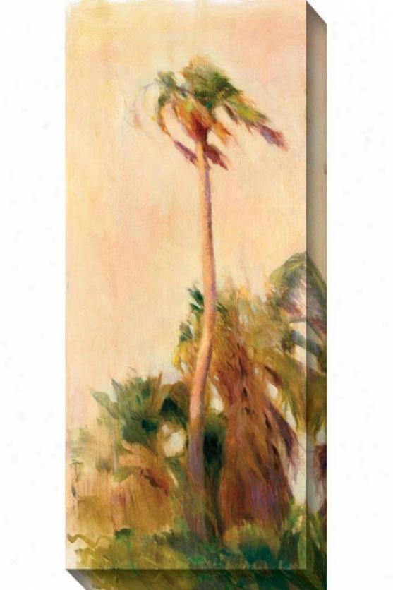 Strand Palm I Canvas Wall Art - I, Ivory