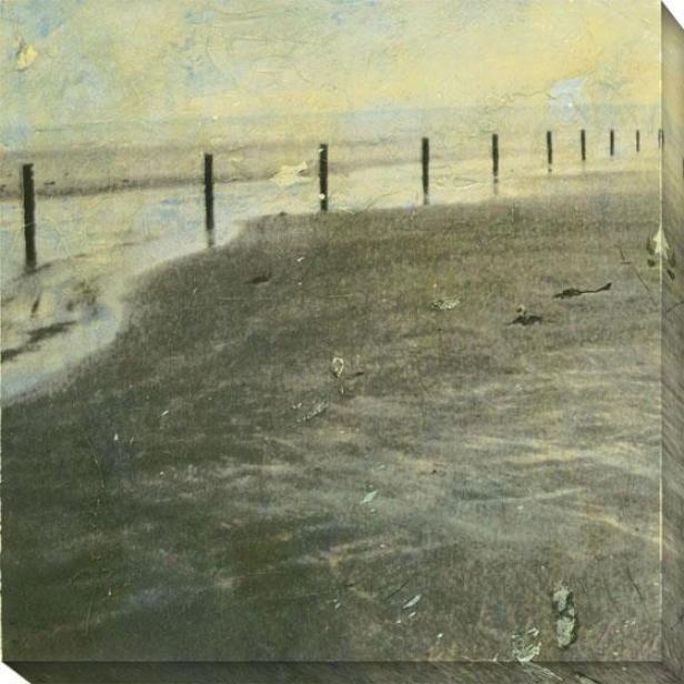 Beach Series I Canvas Wall Art -I , Tan