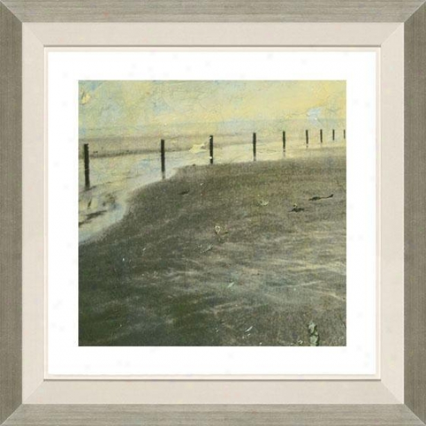 Beach Succession I Framed Wall Art - I, Floated Silvver