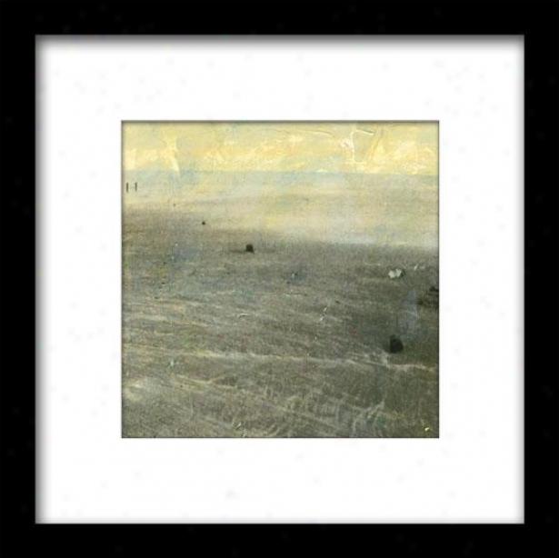 Beach Series Ii Framed Wall Art - Ii, Matted Black