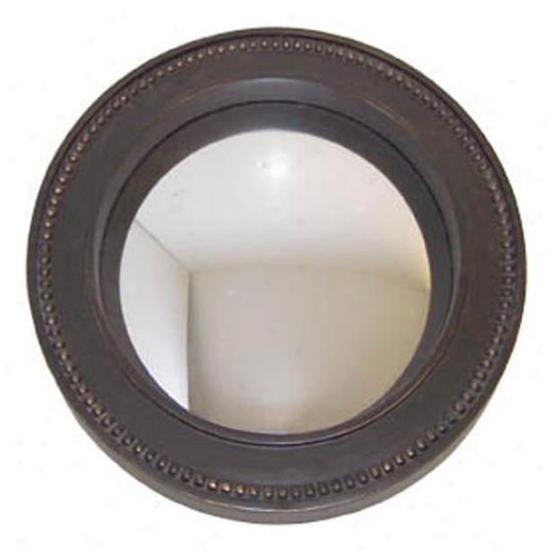 """""""beaded Bullseye Mirror - 11""""""""d, Bronze"""""""