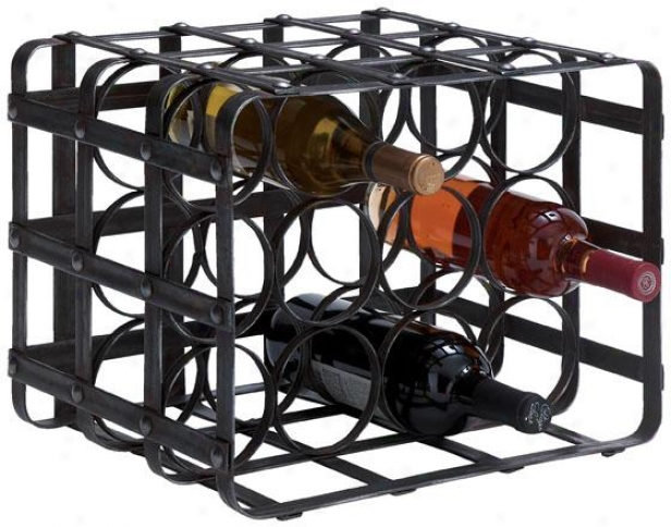 """belize Wine Rack - 12hx16wx12""""d, Black"""