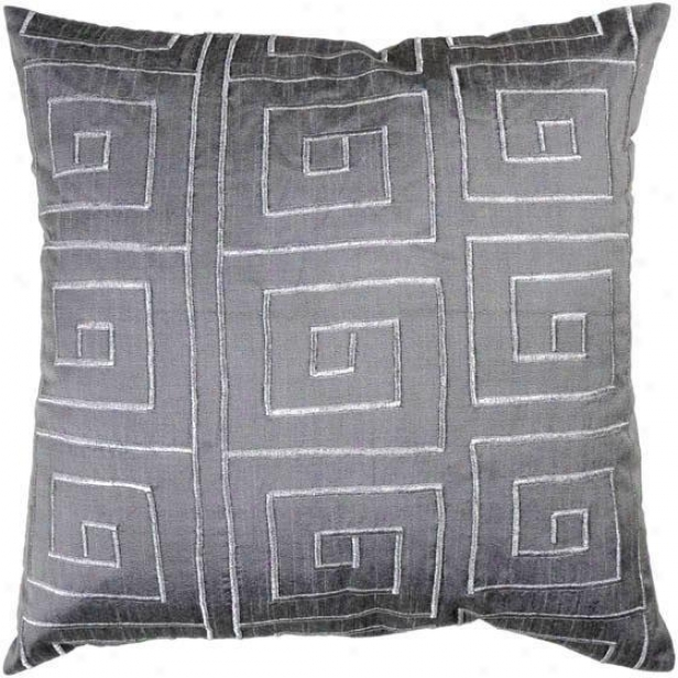 """ellevue Pillow - 18""""x18"""", Gray"""