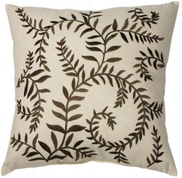Bellina Decorative Pillow - 20hx20wx7d , Beige