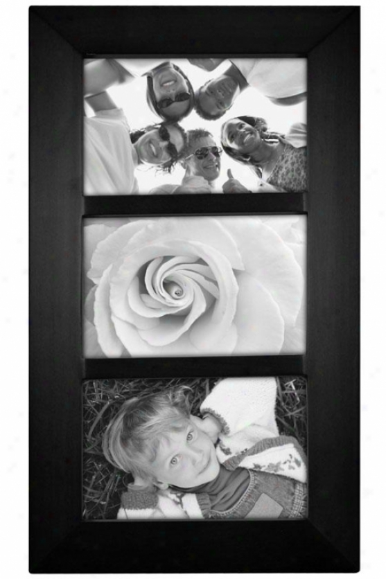 Berkeley Collage 3-opening Picture Frame - 14.8hx1wx8d, Black