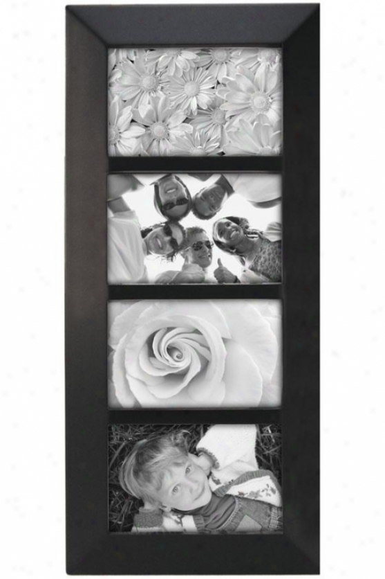 Berkeley Collage 4-opening Picture Frame - 18.7hx1wx8d, Black