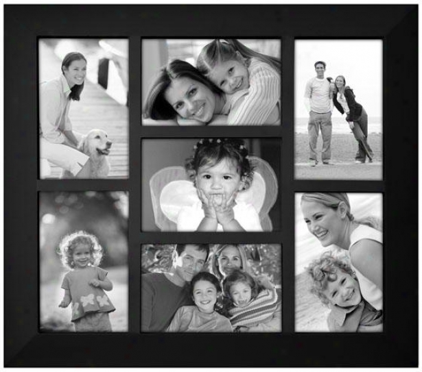 Berkeley Collage 7-opening Picture Frame - 16.8hx1w, Black