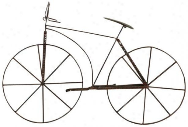 """""""bicycle Wall Sculpture - 24.5""""""""hx39.5""""""""w, Brown"""""""