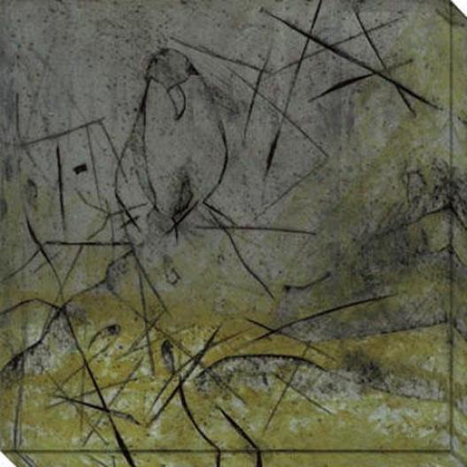 Bird And Cage Ii Canvas Wall Art - Ii, Black