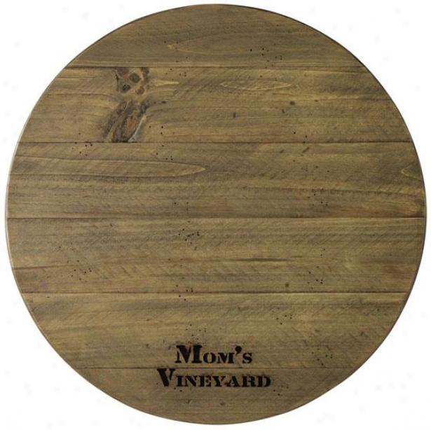 """bistro Personalized Lazy Susan - 20""""round X 2""""h, Weathered"""