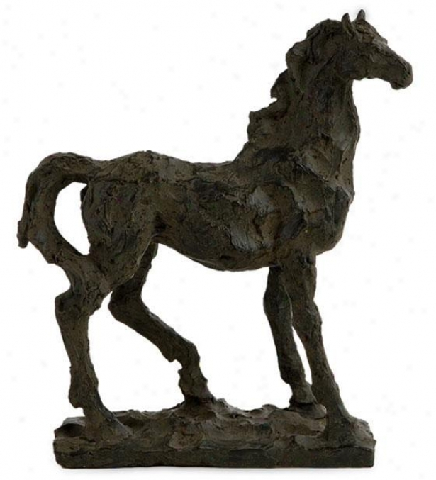 """black Beauty Horse Statuary - 10.5""""hx9.5""""w, Negro"""