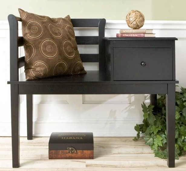 Black Cottage Gossip Bench - 33h X 38w X 20d, Black