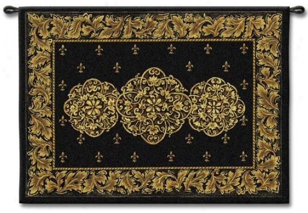 """black Medallion Tapestry - 40""""hx53""""w, Black"""