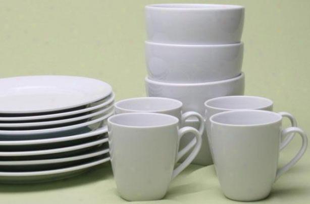Blanco 16-piece Dinnerware Set - 16 Piece Set, White