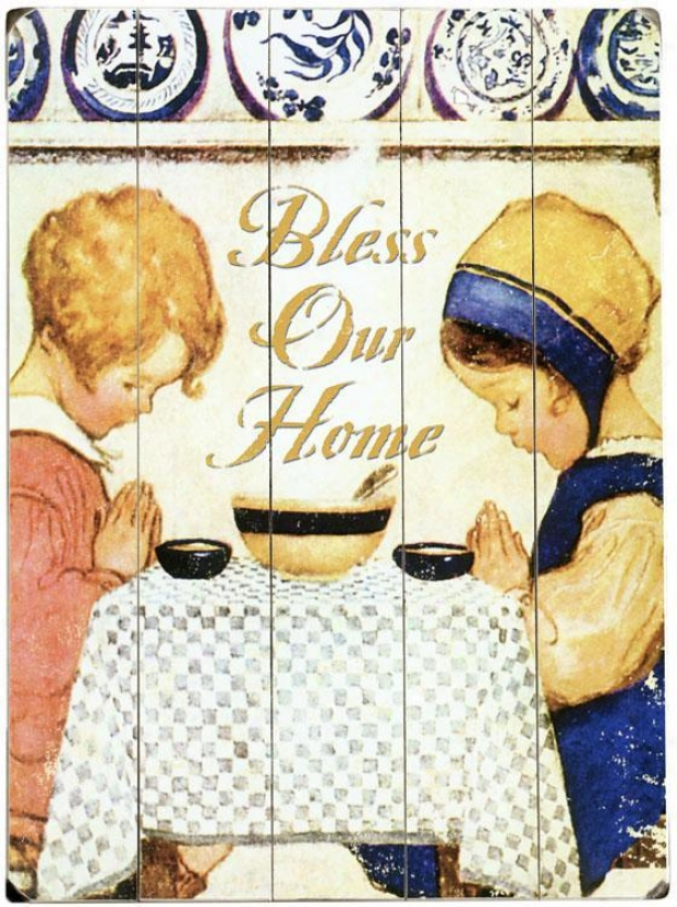 """bless Our Home Awkward Sign - 20""""hx14""""w, Ivory"""