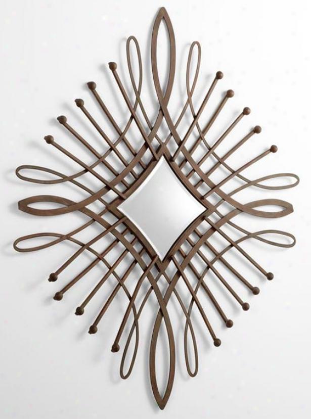 Bloem Mirror - 47hx47w, Bronze