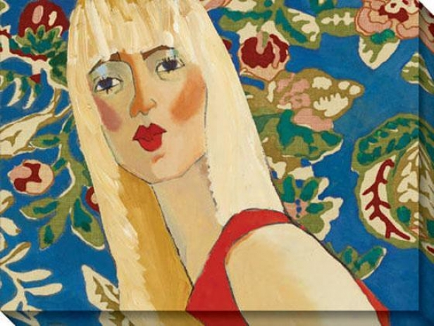 """blondie Has The Blues Canvas Wall At - 48""""hx36""""w, Blue"""