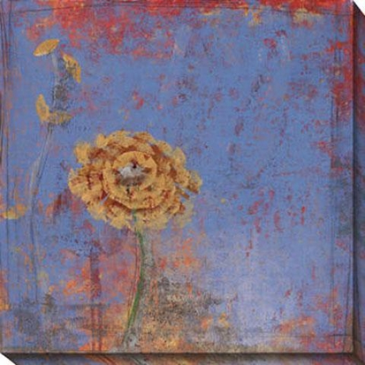 Blue Floral I Canvas Wall Art - I, Biue