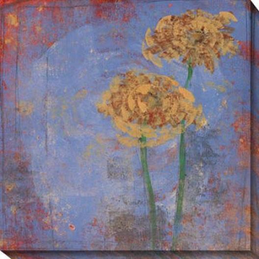 Blue Floral Ii Canvas Wall Skill - Ii, Blue