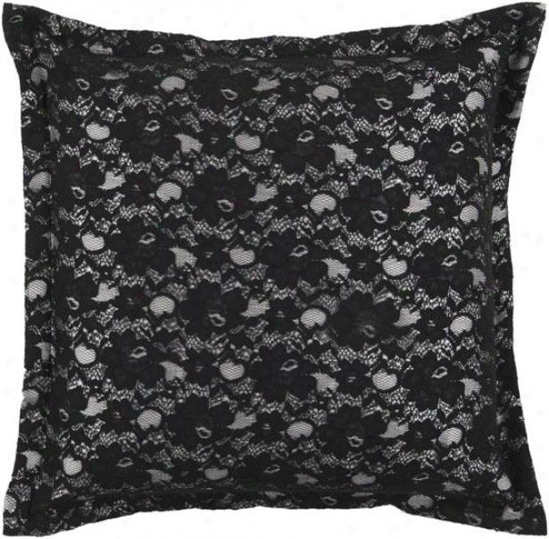 Bonnie Decorative Pillow - 18hx18w Down, Dismal