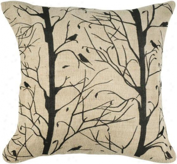 """nranches Pillow - 18"""" Square, Black"""