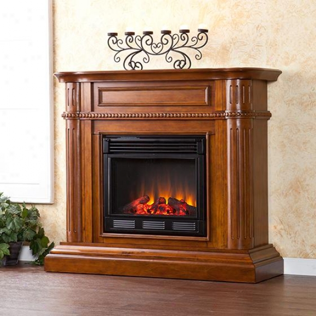 Bramtley Fireplace - Electric, Brown Forest