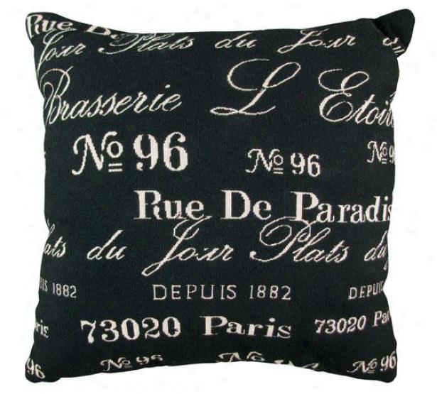 """brasserie Decorative Pillow - 18h X 18""""w, Black"""