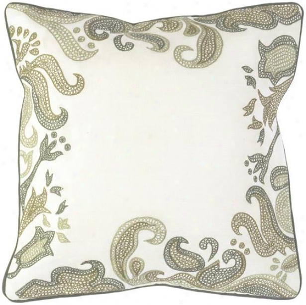 Bree Decorative Pillow - 18hx18w Down, White