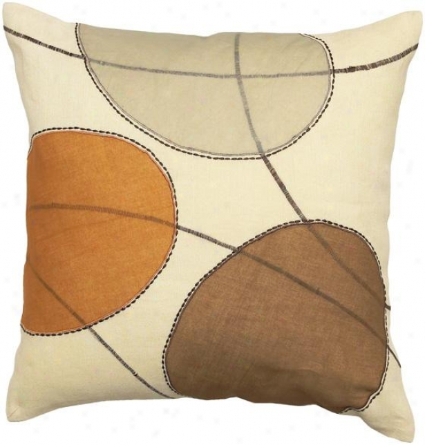 Brett Decorative Pillow - 18hx18w Down, Beige